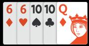 Les cinq meilleures cartes du joueur A
